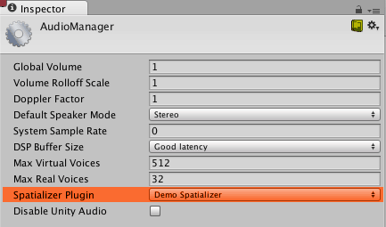 Enable Audio in Unity3d