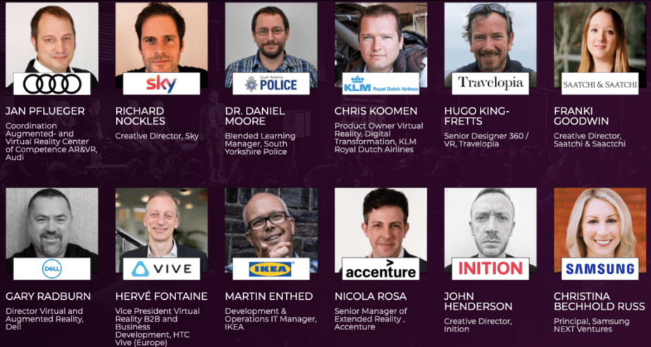 speakers at VR world 2020