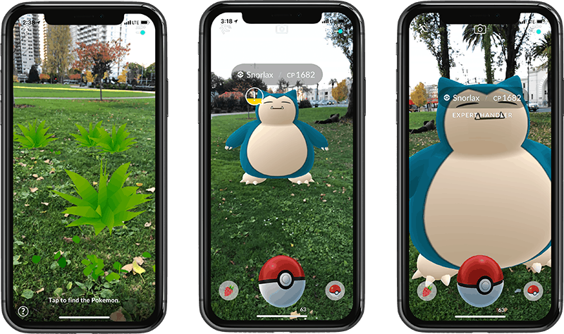 AR game pokemon